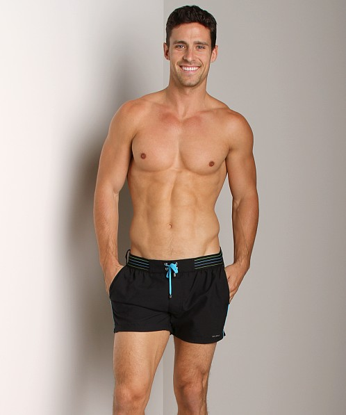 2xist Neon Ibiza Swim Shorts Black