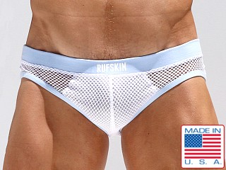 Rufskin Amir Flesh Mesh Brief White/Blue