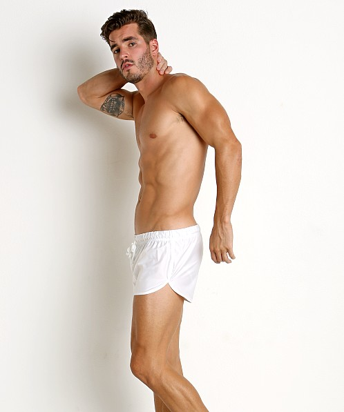 McKillop Drip Bulge-Builder Swim Shorts White