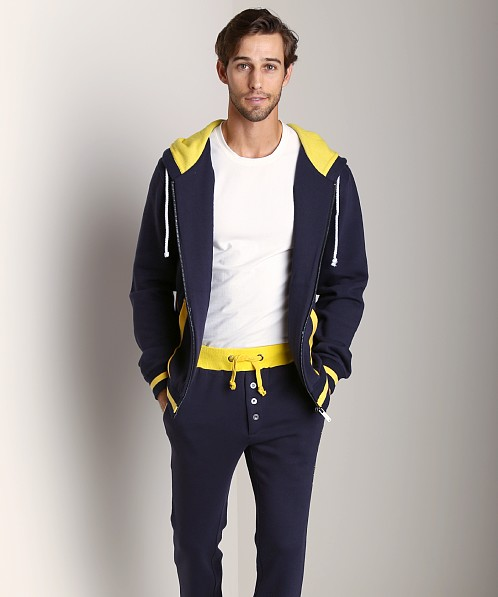 James Tudor Cambridge Hoody Navy/Yellow