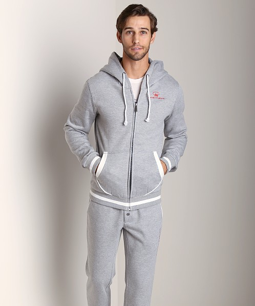 James Tudor Cambridge Hoody Grey/White