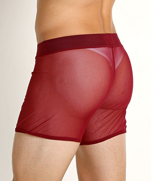 Go Softwear Hard Core Grid Mesh Short Burgundy