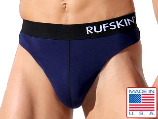 Model in navy Rufskin California Cotton Cisco Thong