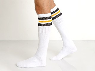 LASC Athletic Knee Socks White/Black/Yellow