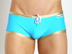 Modus Vivendi United Drawcord Swim Trunk Aqua/Gold