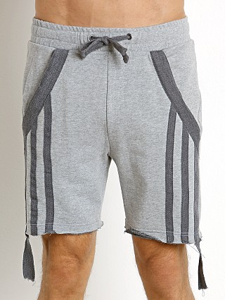Model in heather grey Nasty Pig Knockout Drawstring Shorts