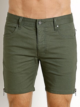 Nasty Pig Stretch Denim Zip Shorts Army Green