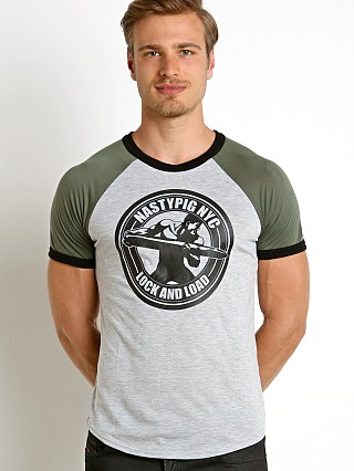 Nasty Pig Lock and Load T-Shirt Army Green/Grey