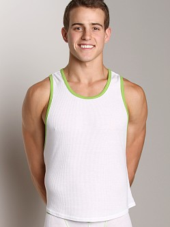 Go Softwear Nouveau Pop Tank Top White/Lime