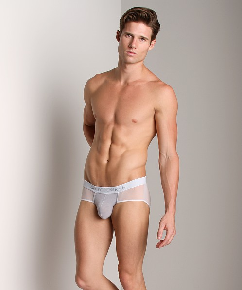 Go Softwear B-Erotic View Brief Silver/White