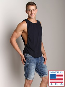 Go Softwear Air Deep Cut Muscle Tee Navy