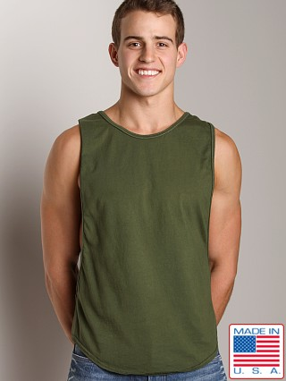 Go Softwear Air Deep Cut Muscle Tee Olive