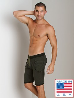 Go Softwear  100% Cotton Yoga Short Olive