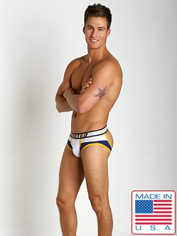 Timoteo Shadow Mesh Panel Backless Brief White/Blue