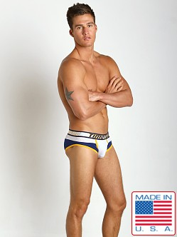 Timoteo Shadow Mesh Panel Brief White/Blue