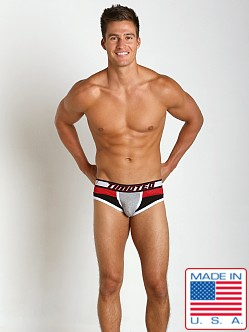 Timoteo Shadow Mesh Panel Brief Grey/Red/Black