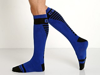 Cell Block 13 Vertigo Knee Socks Blue