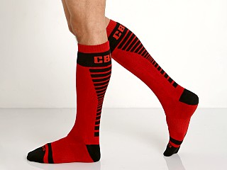 Cell Block 13 Vertigo Knee Socks Red