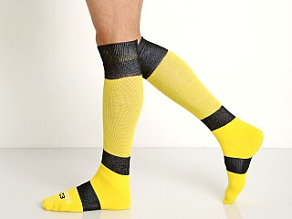 Cell Block 13 Roll Over Knee Socks Yellow
