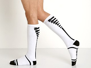 Cell Block 13 Kennel Club Knee Socks White