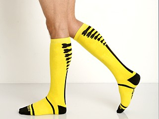 Cell Block 13 Kennel Club Knee Socks Yellow