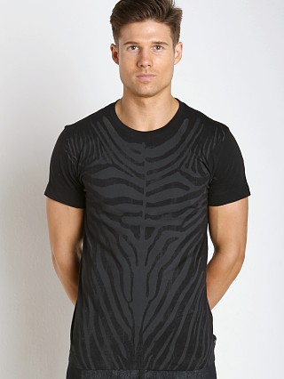 Complete the look: Diesel T-Bowien Zebra Print T-Shirt Black