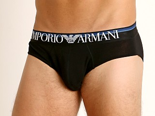Emporio Armani Multicolor Waistband Brief Black