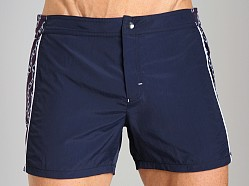 GrigioPerla Nero Perla Capri Shorts Blue