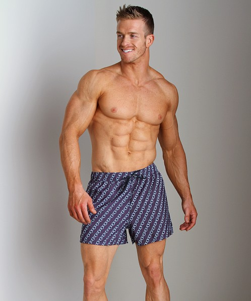 GrigioPerla Nero Perla Chains Capri Shorts Navy