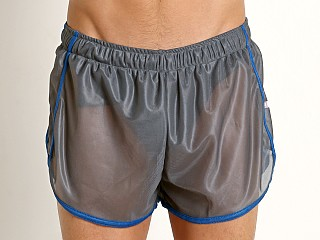 Complete the look: American Jock Featherweight Sheer Mesh Track Short Grey/Royal