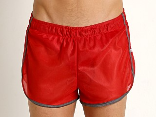 Complete the look: American Jock Featherweight Sheer Mesh Track Short Red/Grey