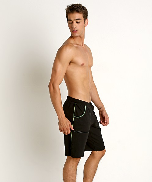 American Jock Iron Workout Short Black/Lime