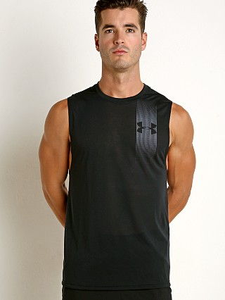 Under Armour Threadborne Graphic Muscle Tee Black