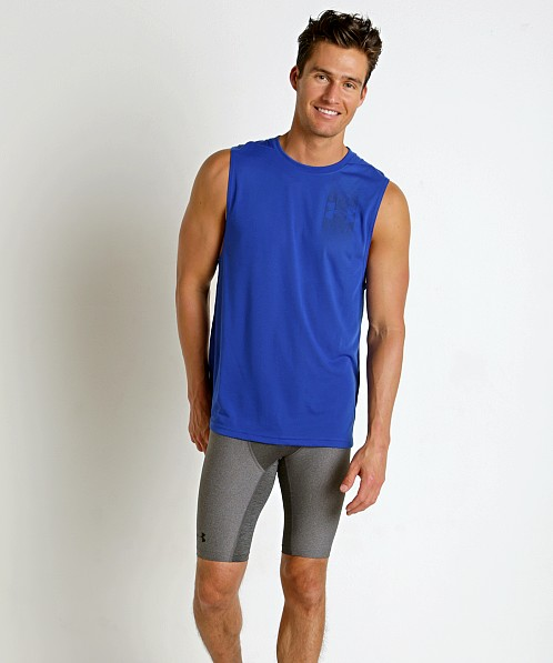 Under Armour Threadborne Graphic Muscle Tee Royal