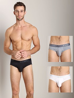 2xist 3-Pack No-Show Briefs White/Black/Grey