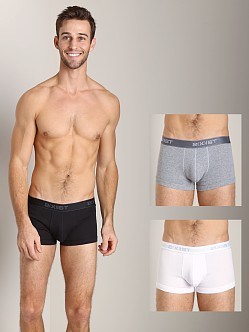 2xist 3-Pack No-Show Trunks White/Black/Grey