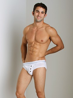 James Tudor Button Fly Brief White