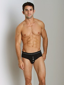 James Tudor Button Fly Brief Black