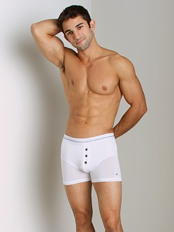 James Tudor Button Fly Boxer White