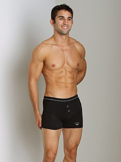 James Tudor Button Fly Boxer Black