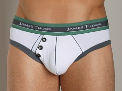 James Tudor Retro Brief White/Grey