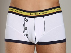 James Tudor Retro Boxer White/Navy