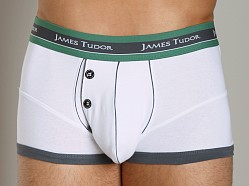 James Tudor Retro Boxer White/Grey