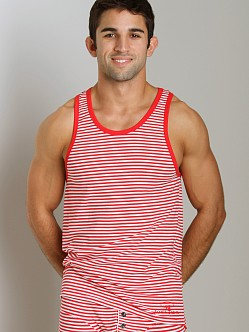 James Tudor Stripe Regal Tank Red