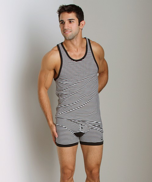 James Tudor Stripe Regal Tank Black