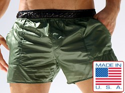 Rufskin Nuage Translucent Nylon Pocket Shorts Spruce