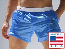 Rufskin Nuage Translucent Nylon Pocket Shorts Royal