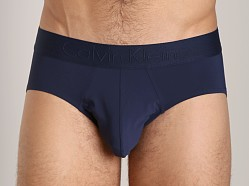 Calvin Klein Black Micro Hip Brief Blue Shadow