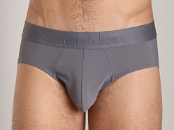 Calvin Klein Black Micro Hip Brief Grey Sky