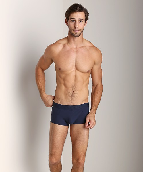 Calvin Klein Black Micro Low Rise Trunk Blue Shadow
